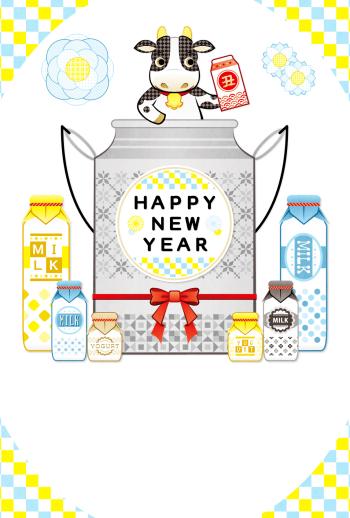 AF028_34_1 牛と牛乳とヨーグルト